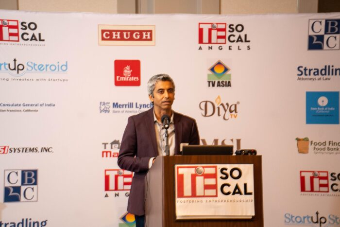 Nitin Bajaj, TiEcon 2021 chair speaking at the event